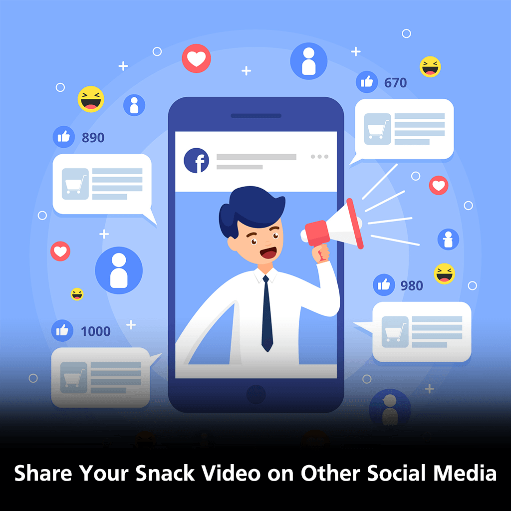 Share Your Snack Video on Other Social Media
